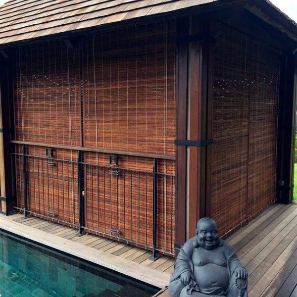 cool store mauricien teinte miel with rideau exterieur bambou. Black Bedroom Furniture Sets. Home Design Ideas