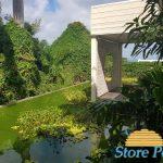 store exterieur bois blanc ceruse a la villa belle